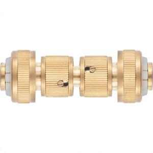 Набор для соединения шлангов 3/4, переходник, 2 соединителя, аквастоп, латунный Palisad, арт: 66211