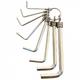 Набор ключей шестигранных 2-10мм на кольце (8шт) CrV никель