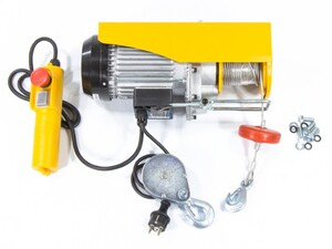 Тельфер электрический TF-500, 0,5 т, 1020 Вт, высота 12 м, 10 м/мин Denzel, арт: 52012
