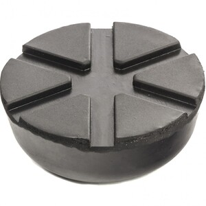 Резиновая опора для подкатного домкрата универсальная, D 89 мм, D 60 мм, H 35 мм Matrix, арт: 50910