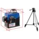 """Нивелиры лазерные """"Крест-3D"""" 360 градусов дальность 20/70м точн. 02 мм/м. Штатив Зубр 34908-2, арт: 34908-2"""